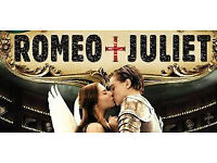 2 x Tickets for Secret Cinema Romeo and Juliet for Friday 17th August 2018
