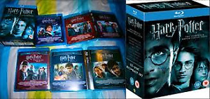 harry potter collection ...wizaed of oz. Box...15 blu rays etc