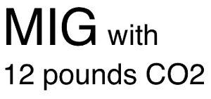 MIG welder + 12 pounds CO2