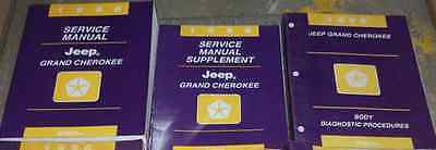 1996 Jeep Grand Cherokee Service Repair Shop Manual FACTORY SET MOPAR BOOK HUGE