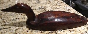 Hand carved wooden duck decoy for sale