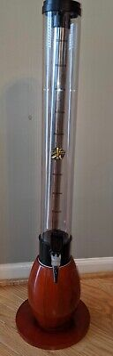 Beer Tube 100 Oz With Cleaning Brush Ice Tube Beverage Tower Dispenser Euc