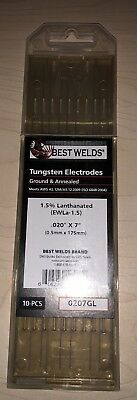 Best Welds 0207GL 0.20x7 1.5 Lanthanated Tungsten Electrode (9