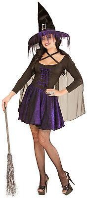 Violette Glimmer Hexe Halloweenkostüm NEU - Damen Karneval Fasching Verkleidung