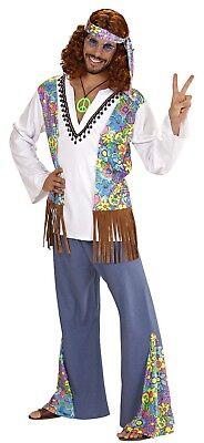 WIM 56021 Woodstock Hippie Man Flower Power 60er 70er Karneval Herren Kostüm - Herren Kostüm Woodstock