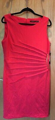 Ivanka Trump Sleeveless Pink Dress Slimming Pleat and Zip Detail Size UK16 BNWT