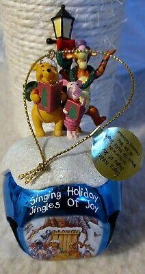 Disney Christmas Tigger Piglet Winnie Pooh Ornament 2007 Bradford Editions bell