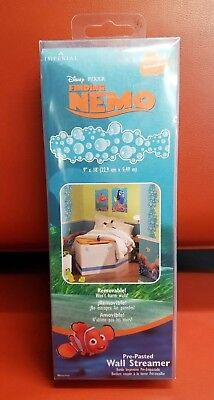 Disney Finding Nemo Wall - Disney Pixar Finding Nemo Pre-Pasted Bubbles Wall Streamers  Fully Removable!