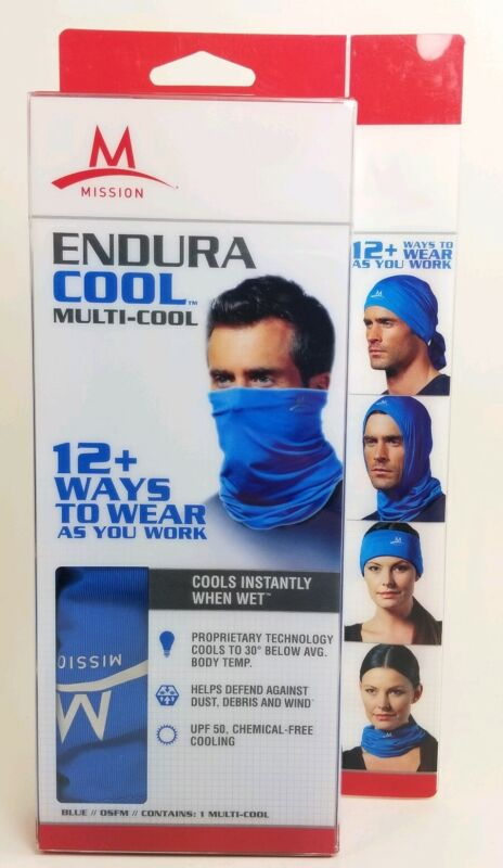 Mission Cooling NeckGaiter 12+ Ways To Wears UPF50, Cools when Wet