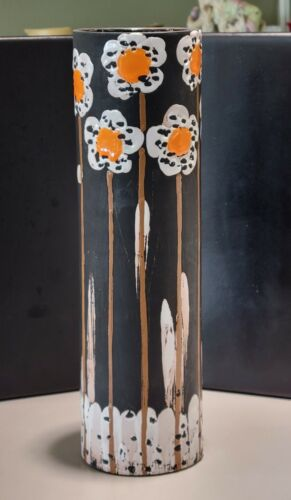 Alvino Bagni For Raymor Daisy Floral Ceramic Art Pottery Vase Circa 1950s Italy - $425.00
