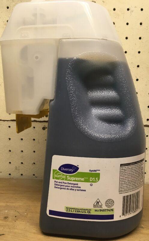 Diversey Suma Supreme Pot/Pan Detergent. 2.6qt. 2.5 L. NEW. 94977476