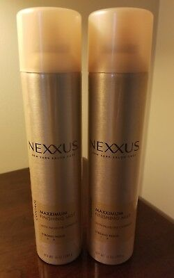 Lot of 2 Nexxus Maxximum Strong Hold Finishing Mist 10 oz. Hairspray