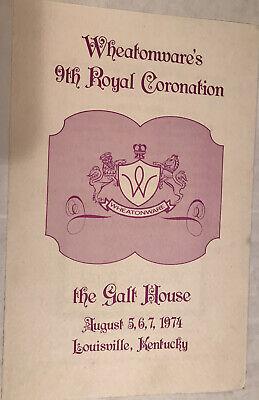 vintage 1974 wheatonware 9th royal coronation galt house louisville ky