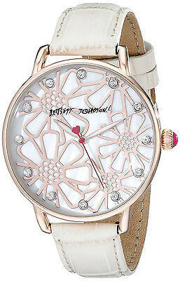 Betsey Johnson BJ00207-12 Mother of Pearl Dial Leather Strap Women's Watch