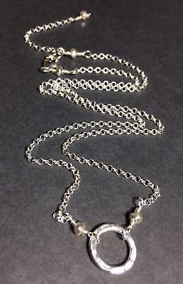 Hill Tribe Silver Artisan Necklace - Hill Tribe Hammered Ring & .925 STERLING SILVER Rollo Necklace * Sundance Arti