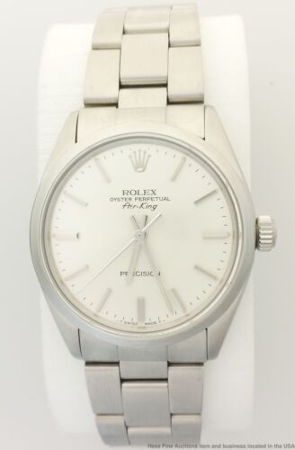 $1225.00 - Vintage Rolex Oyster Perpetual 5500 Air King Stainless Steel Wrist Watch