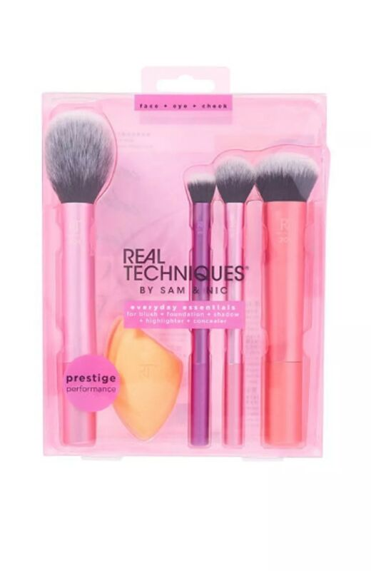 REAL TECHNIQUES by Sam & Nic Everyday Essentials Brush Set AUTHENTIC
