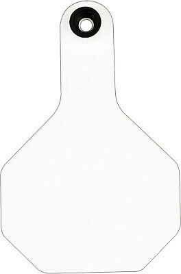 Y-tex 3 Star Medium Blank Cattle Ear Tags 25 Count White