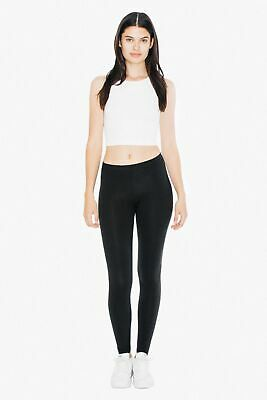 New American Apparel Womens Cotton Spandex Jersey Soft Legging Black Xs-Xl $28 Cotton Spandex Jersey Legging