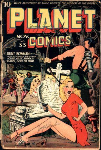 Planet Comics #33 Golden Age Fiction House 1.5
