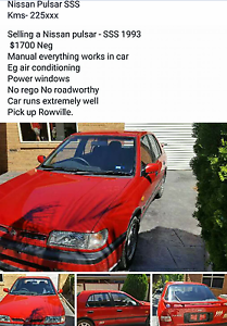 Nissian Pulsar SSS Rowville Knox Area Preview