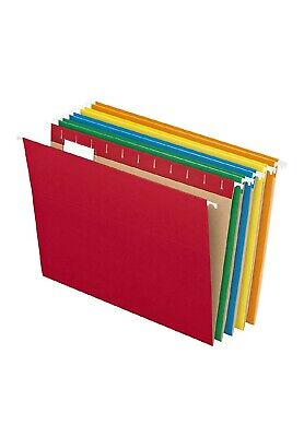 Hanging File Folders Letter Size Assorted Colors 25 Pcs Filing Cabinet Organizer