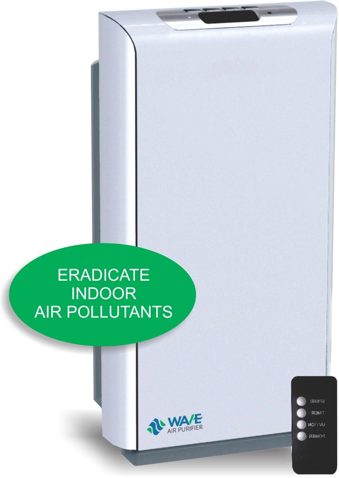 WAVE 6 Stage Portable Air Purifier - HEPA, Dual UV, 800 sq. ft. Remote, Sensor
