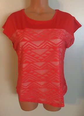 •• NWT Women's Size PM NY Collection Blouse Sheer Lined SS Shirt $59.99