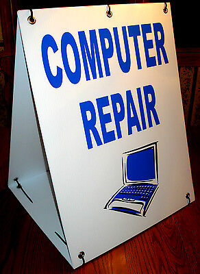Computer Repair Sandwich Board Sign 2 Sided Kit New