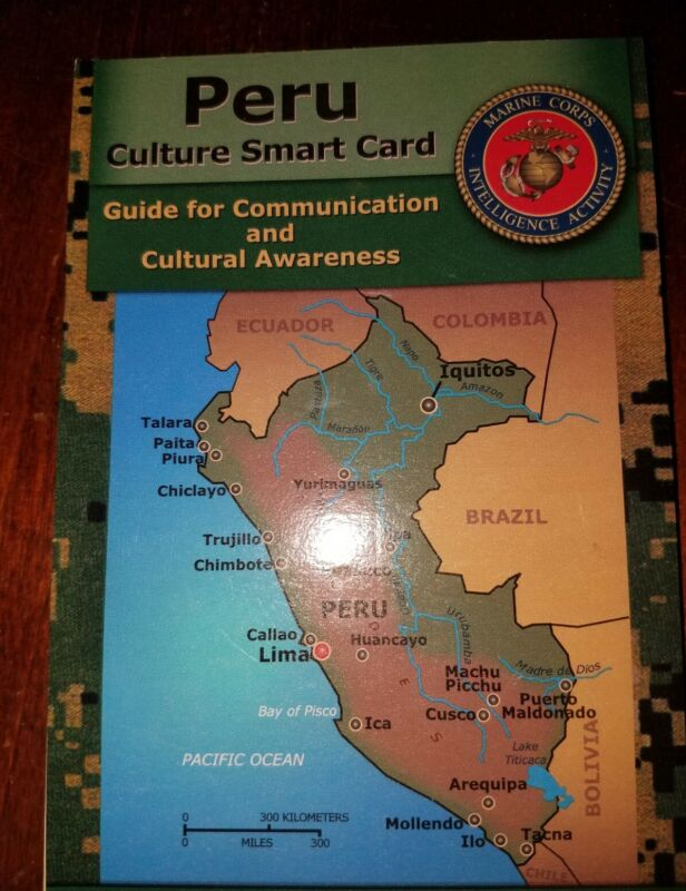 US Army USMC Peru Cultural Smart Card