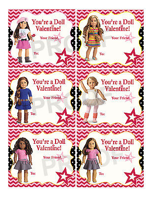 American Girl Valentines for Classroom School Valentines Day Cards Printable