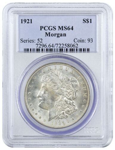 1921 $1 Morgan Silver Dollar PCGS MS64 SKU41302