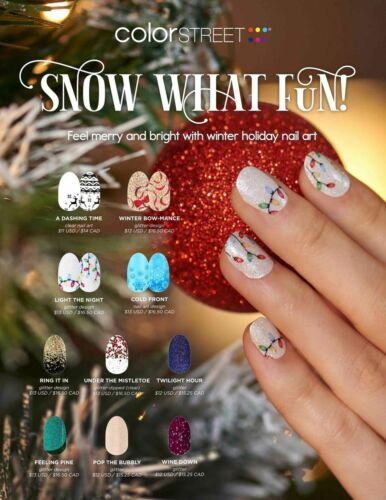 🎅🏻 🦌❄️🎄 COLOR STREET SNOW WHAT FUN HOLIDAY 2021 PREORDER 🎅🏻 🦌❄️🎄