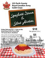 Army Cadets Spaghetti Dinner & Silent Auction