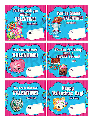 Valentines Day Cards For School (Shopkins Valentines for Classroom School Valentines Day)