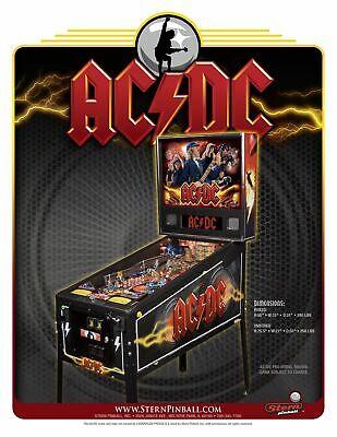 AC/DC Pro Pinball Flyer Original NOS Stern Hard Rock Heavy Metal Artwork 2012