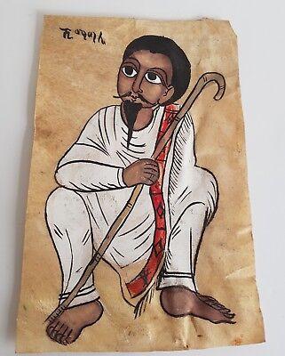 Antique Ethiopian painting on Vellum
