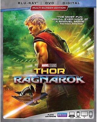 THOR RAGNAROK(BLU-RAY+DVD+DIGITAL HD)W/SLIPCOVER NEW