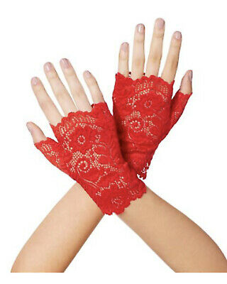 Cinco de Mayo Short Red Lace Gloves (sh)