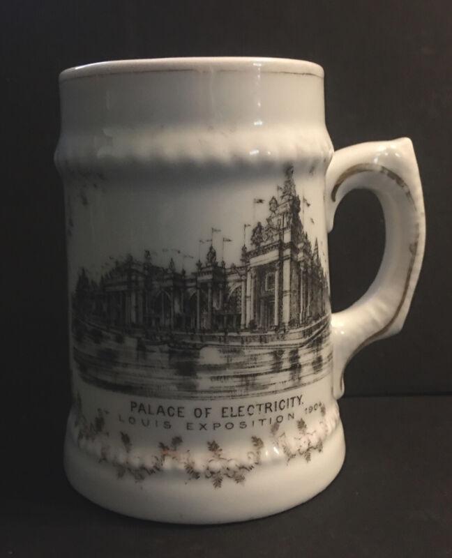 Antique St Louis Exposition 1904 Cup Mug Palace of Electricity Austria Porcelain