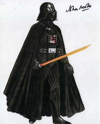 Darth Vader Original Costume (John Mollo REAL hand SIGNED Darth Vader Costume Designer photo Stars Wars)