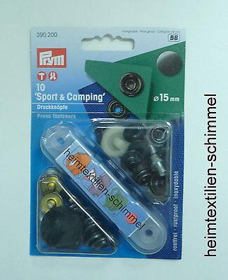 PRYM Sport & Camping Druckknopf Druckknöpfe 15mm brüniert 390200