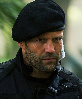 Men Black Mix Wool Military Special Force Army French Artist Hat Cap Beret BP ()