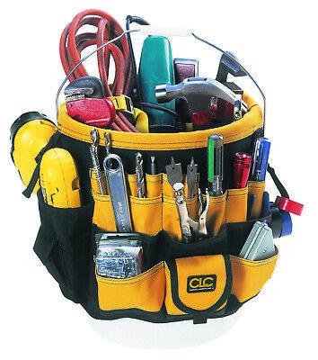 CLC Custom LeatherCraft 4122 - 5 Gallon Bucket Organizer 61 Pocket Tool Holder 5 Gallon Bucket Organizer