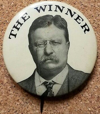 Theodore Roosevelt campaign pinback button 1912 - 2 1/8""