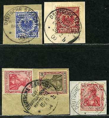 Seepost Ost Afrikanische Hauptlinie 4 Briefstücke