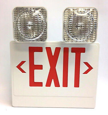Philips Chloride Led Exit Sign - Vcrw Red Combo Lead-acid Battery