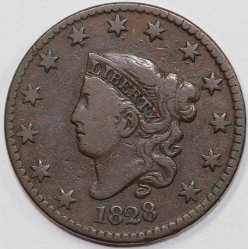1828 1c Coronet or Matron Head Large Cent