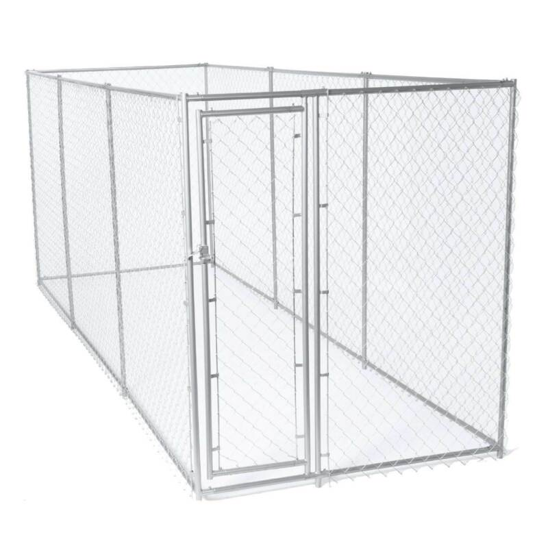 Lucky Dog 10x10 Heavy Duty Chain Link Dog Kennel Enclosure w/ Door (For Parts)