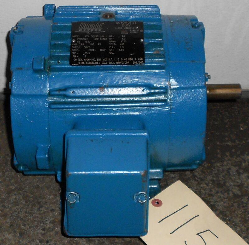 SLS1B12 Reman - Lincoln Motors 1 HP Electric Motor 1760 RPM     #11525WT